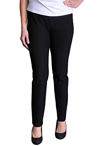 Eileen Fisher Washable Stretch Crepe Slim Leg Pant with Yoke Waistband (Eileen Fisher Pants Black compare prices)
