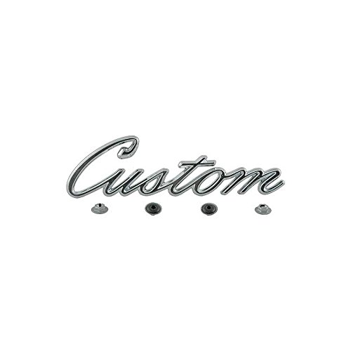 MACs Auto Parts 48-48504 Pickup Truck Bed Side Emblem - Custom - Chrome - F100 & F250