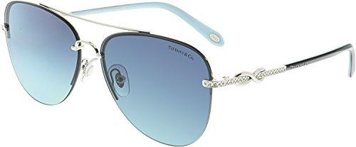 594aa9c041e7 Tiffany TF3054B 60019S Silver TF3054B Aviator Sunglasses Lens Category 2  Size - Tiffany Aviators Co And