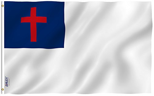 Anley Fly Breeze 3x5 Foot Christian Flag - Vivid Color and U