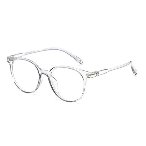 Frame Eyeglasses Non-prescription Horn Rimmed Clear Lens Eye Glasses White ()