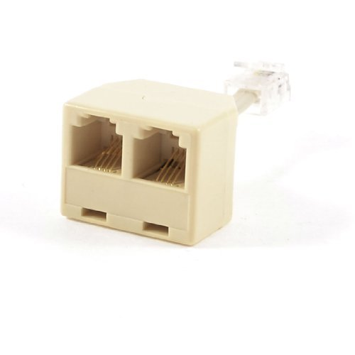 - SODIAL(R) Telephone RJ11 Male Line to Double RJ11 Female Jack Filter Splitter Adapter