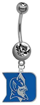 Duke Blue Devils NCAA Belly Button Navel Ring (Devils Belly Button compare prices)
