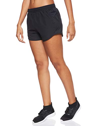 Under Armour Women's Fly By Running Shorts, Black (002)/Reflective, Small