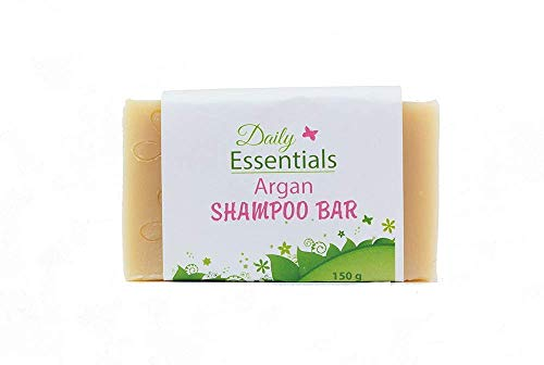 Natural Argan Shampoo Bar for Daily Use Itchy Dry Scalp Relief Generous 150g Solid Soap