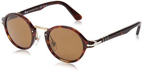 Persol Unisex Sonnenbrille 0PO3129S, Braun (Striped Havana 960/S3), One size (Herstellergröße: 48)