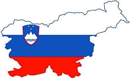 スロベニア地図カーステッカーオートバイ旗デカール