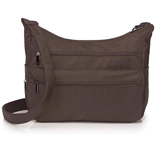 Volcanic Rock Lightweight Shoulder Bags Messenger Handbags Multi Pocket Nylon Waterproof Crossbody Bags