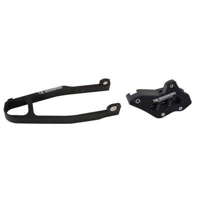 TM Designworks ATV Slide N Guide Kit BLACK Yamaha Warrior Raptor 350 Swingarm