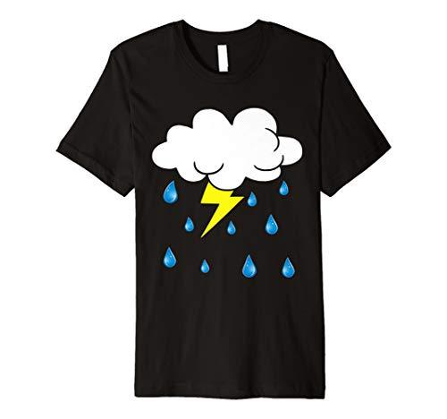 Rain Cloud Raindrops Costume Funny Easy Halloween Premium T-Shirt
