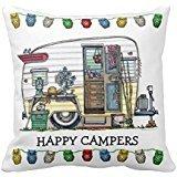 "18"" x 18"" Shasta Camper Trailer RV Pillow Decorative Throw Pillow Case Cushion Cover"