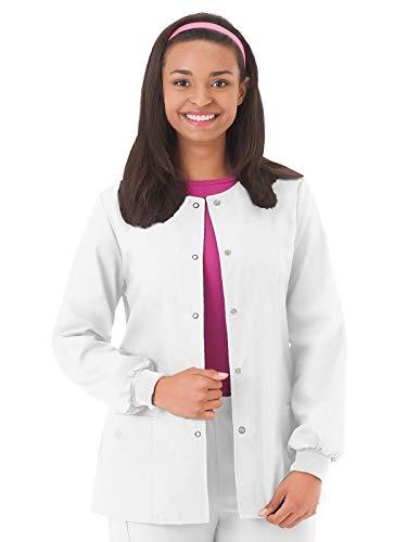 (Fundamentals 14740 Women's Warm-Up Scrub Jacket White)