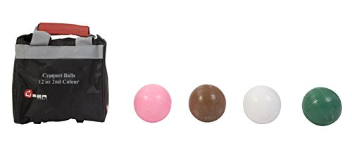 Uber Games Croquet Ball Set (Brown, Pink, White, Green, 12oz Composite) by Uber Games
