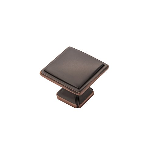 Hickory Hardware P3240-OBH-10B Bridge's Collection Knob 1-1/4 Inch Diameter, Oil-Rubbed Bronze Highlighted, 10 Each ()