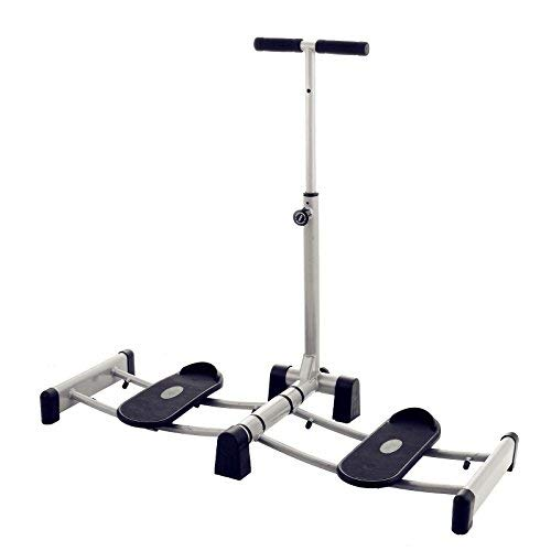 DreamJoy Foldable Leg Exerciser Thighs Total Body Leg Exercise Machine Leg Magic Exerciser with Handle Bars and Pedals for Home Fitness