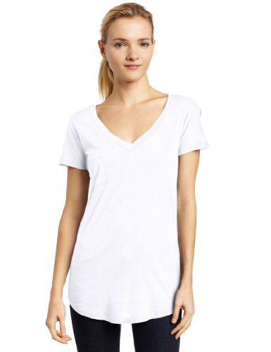 LAmade Women's V Pocket Tee,White,Small (La Made Shirt compare prices)