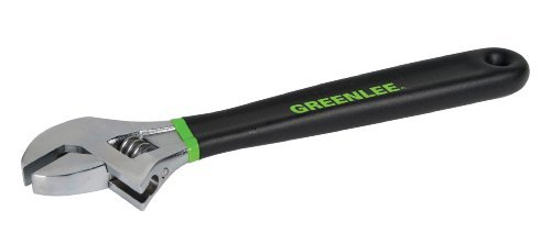 Greenlee 0154-12D Adjustable Ratcheting Wrench with Dipped Handle, 12 Inches by Greenlee