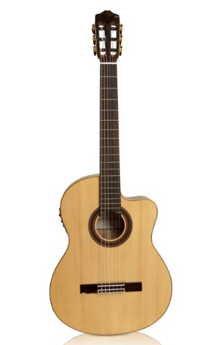 Cordoba GK Studio Negra [Gipsy Kings Signature Model] Acoustic Electric Nylon String Flamenco Guitar (Acoustic Guitar Electric Model Signature)
