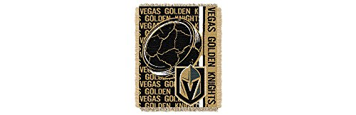 The Northwest Company LAS Vegas Golden Knights Double Play Woven Jacquard Throw Blanket