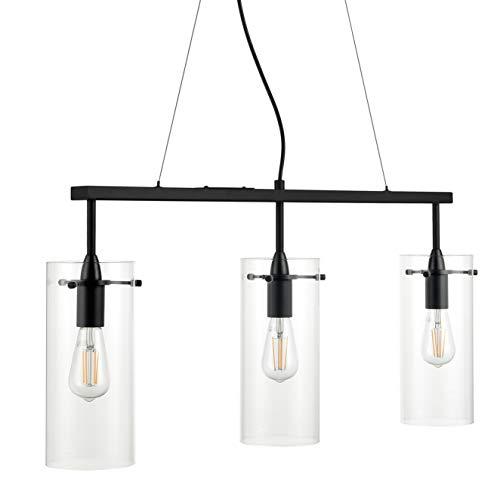 Effimero Pendant Lighting for Kitchen Island   Black Large 3 Pendant Light LL-P335-5BLK ()