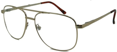 In Style Eyes Just Chillin', Aviator Bifocal Reading Glasses/Gold/3.25 - Reading Aviator Bifocal Glasses