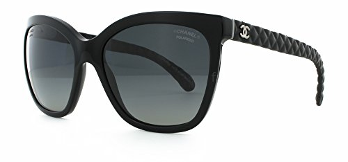 Chanel Womens 5288Q C501S8 Polarized Sunglasses 57 Black