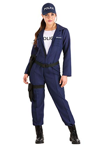 Women's Tactical Cop Police Officer Costume X-Large Black,Navy Blue (Police Officer Killed In Line Of Duty 2013)