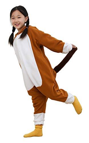 Horse Onesie Kids,Cosplay Jumpsuit Costume Animal Sleepwear for Children Girls,Brown 125