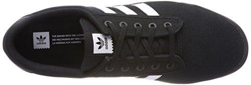 adidas Kiel, Chaussures de Skateboard Mixte Adulte Noir (Cblack/ftwwht/cblack)