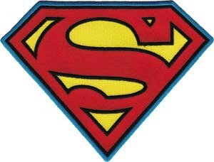 "Price comparison product image Superman DC Comics Movie Iron On Patch - 8"" XL Red / Yellow ""S"" Logo"