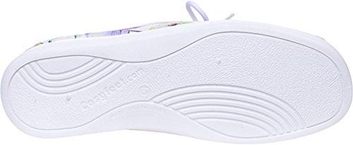 Cosyfeet Sammi Fabric Shoes - Extra Roomy (Eeeee+ Width Fitting) Petal Print Cotton-mix wfmbXZyTix