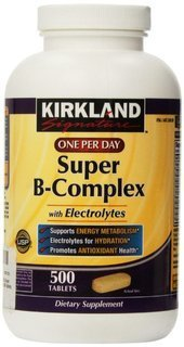 (Kirkland Signature One Per Day Super B-Complex with Electrolytes,500 tablets ( Pack of 2))