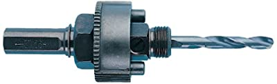 Greenlee 37156 Hole Saw Arbor, 7/16-Inch Hex Shank for 1-1/4-Inch to 6-Inch Hole Saws