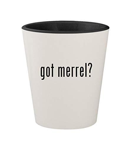 got merrel? - Ceramic White Outer & Black Inner 1.5oz Shot Glass ()