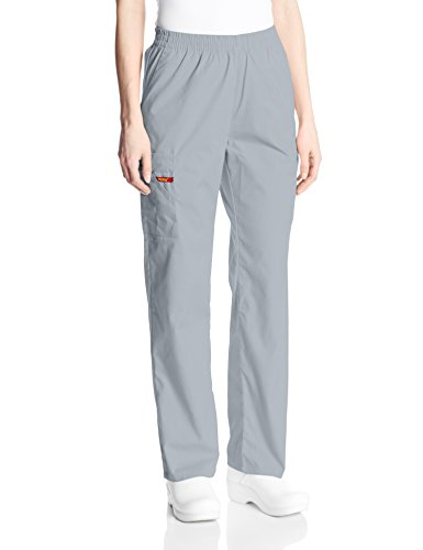 (Dickies Women's 86106 EDS Signature Scrubs Missy Fit Pull-On Cargo Pant, Grey, XX-Large)
