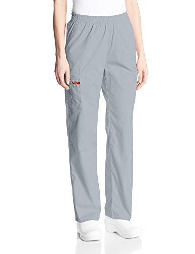 - Dickies Women's Signature Elastic Waist Scrubs Pant, Grey, XX-Small Petite