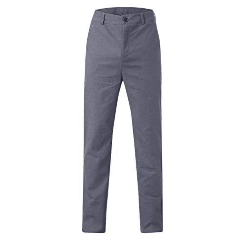 F_Gotal Men's Casual Slim-Fit Flat-Front Suit Separate Pant Expandable Waist Cut Plain-Front Pockets Pants Trouser ()