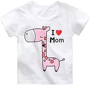 Pink Giraffe T-shirt for Children 90 cm