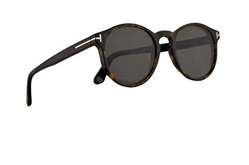 Tom Ford FT0591 Ian-02 Sunglasses Dark Havana w/Green Lens 51mm 52N FT591 TF 591 TF591 (Best Tom Ford Sunglasses For Round Face)
