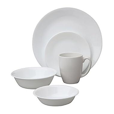 Corelle 1088656 Livingware Winter Frost White 30-Piece Dinnerware Set, Service for 6