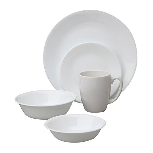 Corelle 1088656 Livingware Winter Frost White 30-Piece Dinne