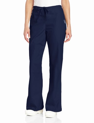 Everyday Scrubs Flare Leg (Landau Women's Natural Flare Scrub Leg Pant, Navy,)
