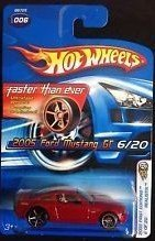 HOT WHEELS 2005 FIRST EDITIONS REALISTIX RED 2005 FORD MUSTANG GT 6/20 FASTER THAN EVER ()