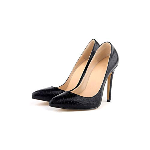 3' Platform Black Pump - Sunshine-Family Women Pumps Leopard High Heels Sexy Pointed Casual,Black Shoes,4