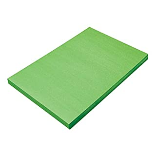 """SunWorks Construction Paper, Bright Green, 12"""" x 18"""", 100 Sheets"""