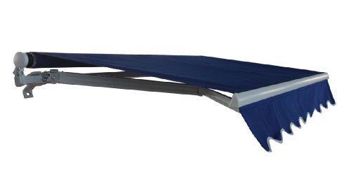 ALEKO AW10X8BLUE30 Retractable Patio Awning 10 x 8 Feet Blue