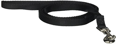 (Hamilton SLE 4BK 3/8-Inch Single Thick Nylon Lead with Swivel Snap, 4-Feet, Black )