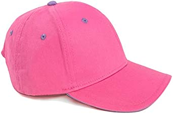 Fenside Country Clothing Girls 100/% Cotton Plain Baseball Cap with Contrasting Eyelets Childrens Summer Sun Hat