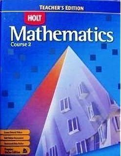 Printables Holt Mathematics Worksheets holt mathematics homework practice workbook course 2 rinehart teachers edition