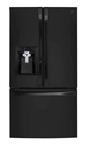 Kenmore Smart 75049 24 cu. ft. French Door Bottom-Mount Refrigerator in Black - Compatible with Amazon Alexa, includes delivery and hookup (Available in select cities only)